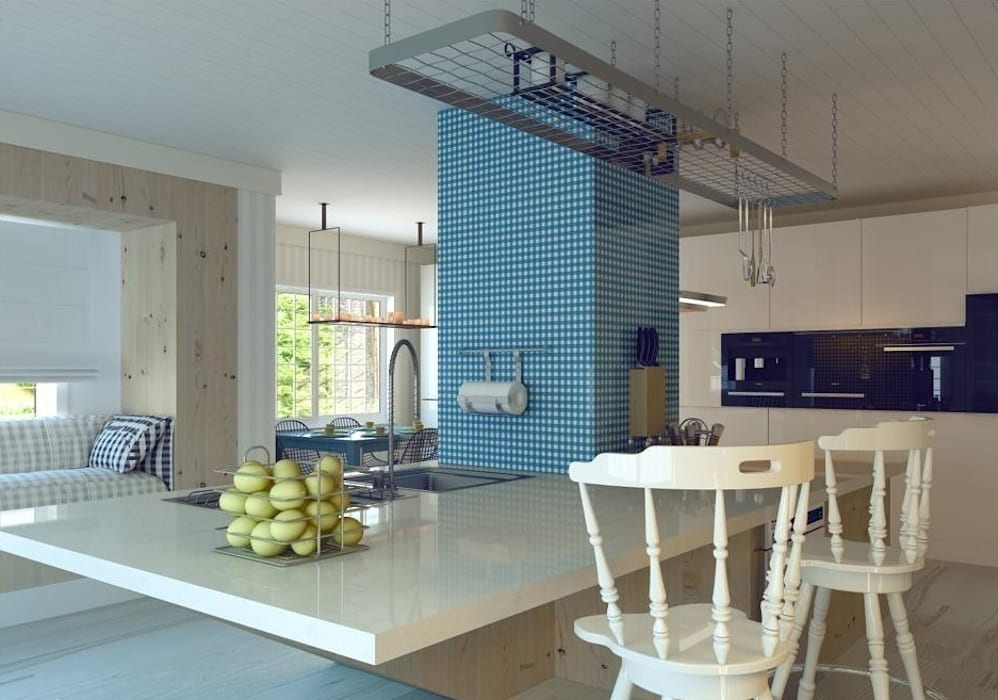 Ankarada bir ev Modern Mutfak homify Modern
