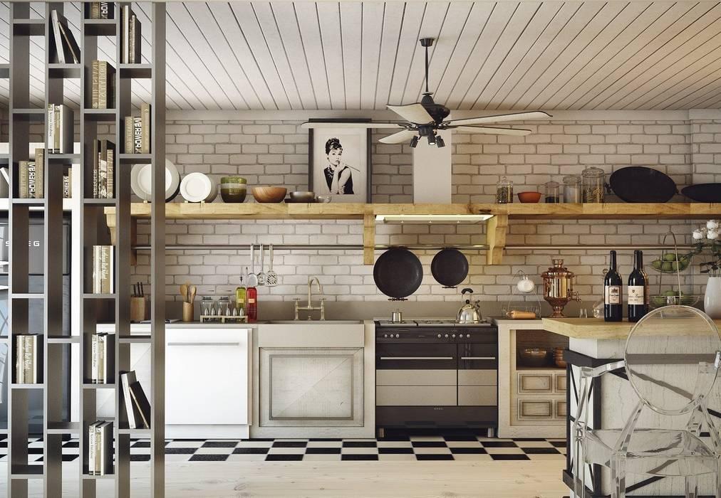 Ankarada bir ev İskandinav Mutfak homify İskandinav