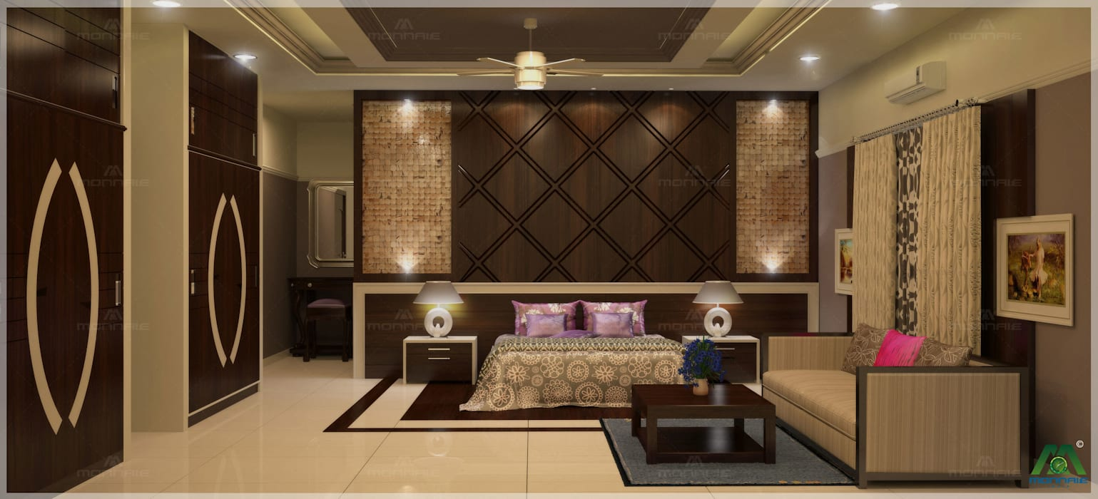 Nalukettu | Bedroom Interior Design:  Bedroom by Monnaie Interiors Pvt Ltd