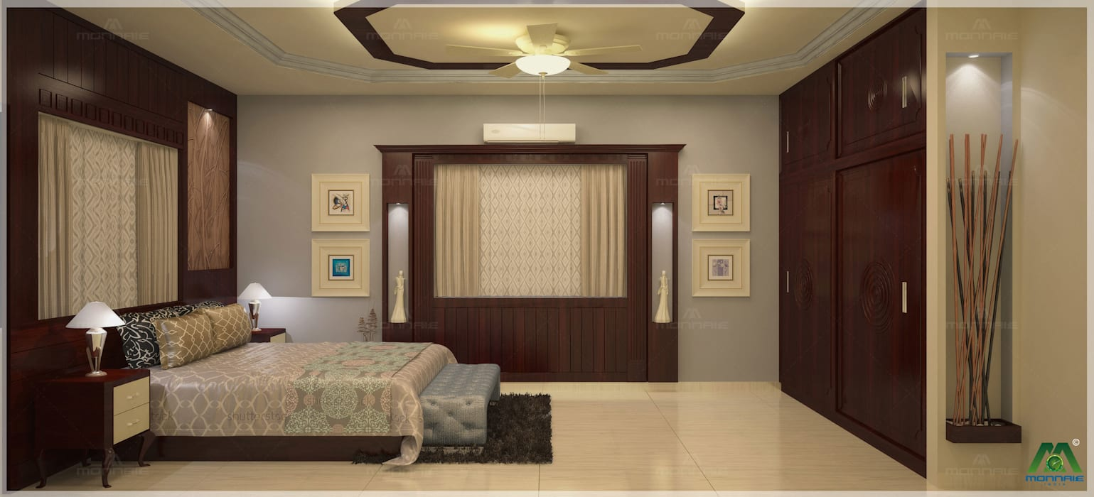 Nalukettu | Bedroom Interior Design:  Bedroom by Monnaie Interiors Pvt Ltd