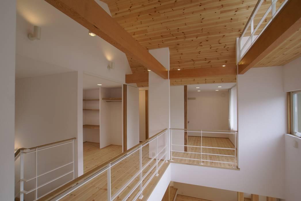 吹抜(土間上部) オリジナルデザインの 多目的室 の 伊達剛建築設計事務所 オリジナル