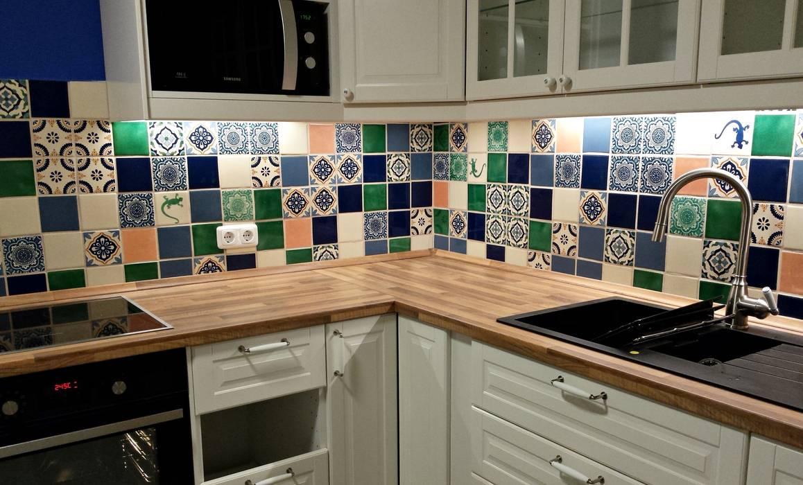 Bunte fliesen für den fliesenspiegel in der küche: küche von ...