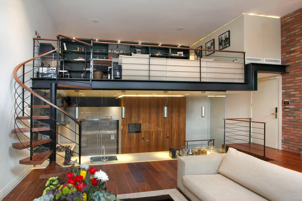 Open Plan Kitchen with Glass Wall Cozinhas modernas por Elan Kitchens Moderno