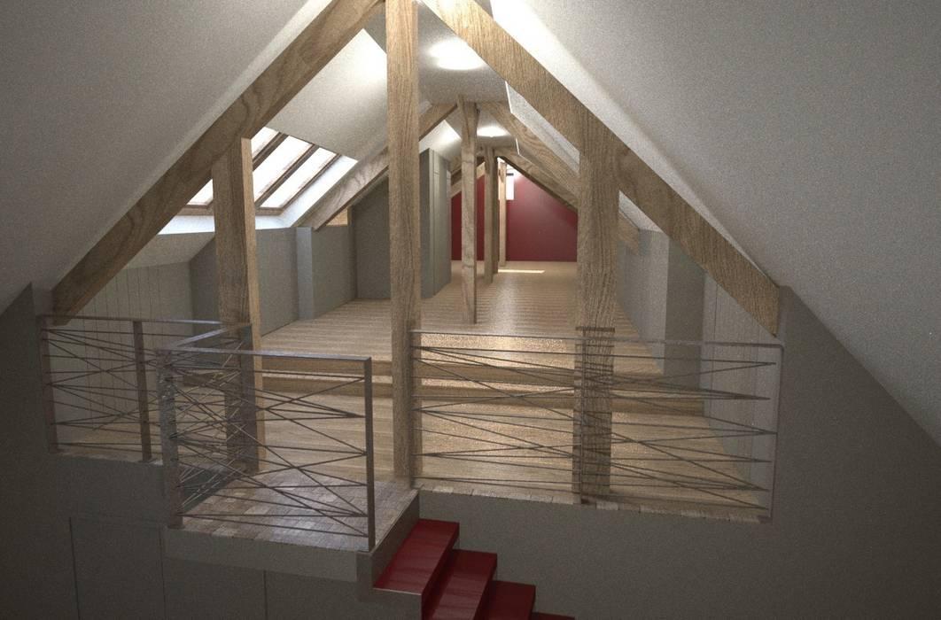 Vue 3D: Salon de style de style Moderne par Benoit Viot Eirl