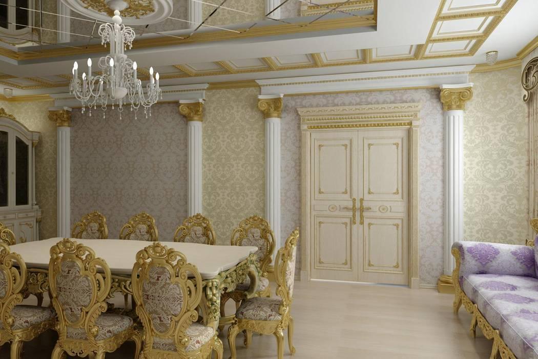 Столовая в стиле Барокко: Столовые комнаты в . Автор – Цунёв_Дизайн. Студия интерьерных решений., Классический