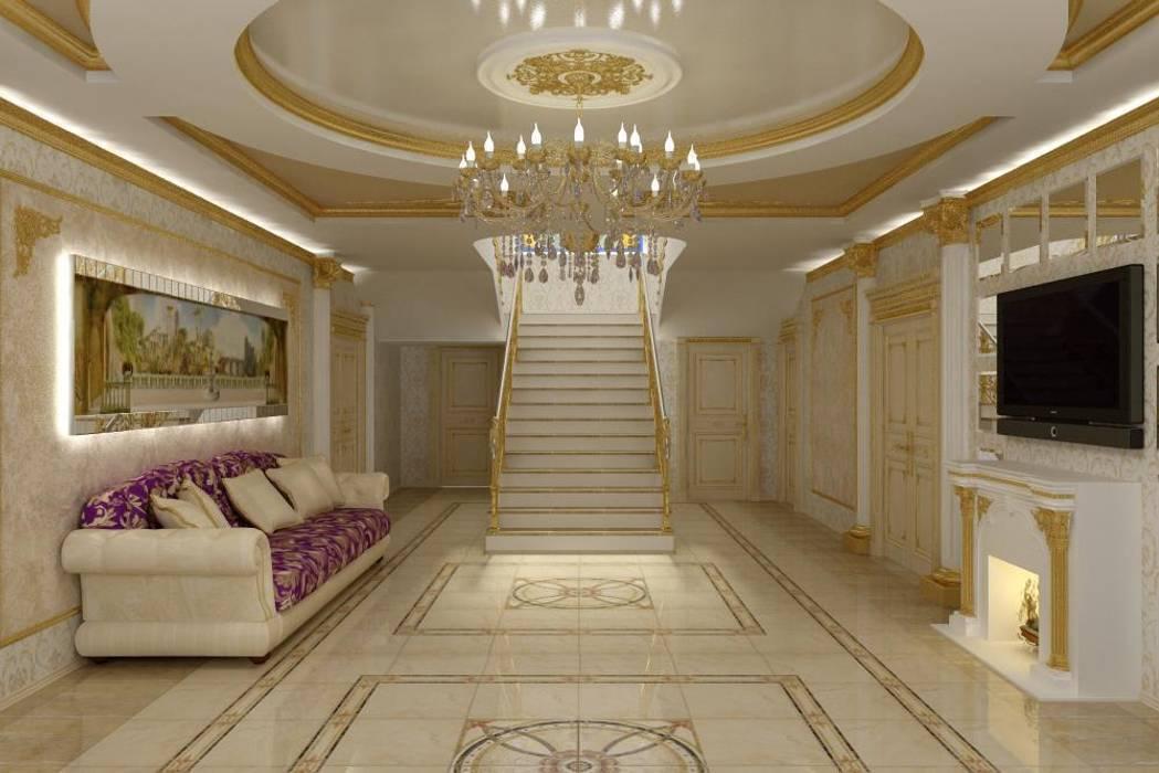 Дизайн холла в стиле Ампир: Коридор и прихожая в . Автор – Цунёв_Дизайн. Студия интерьерных решений.