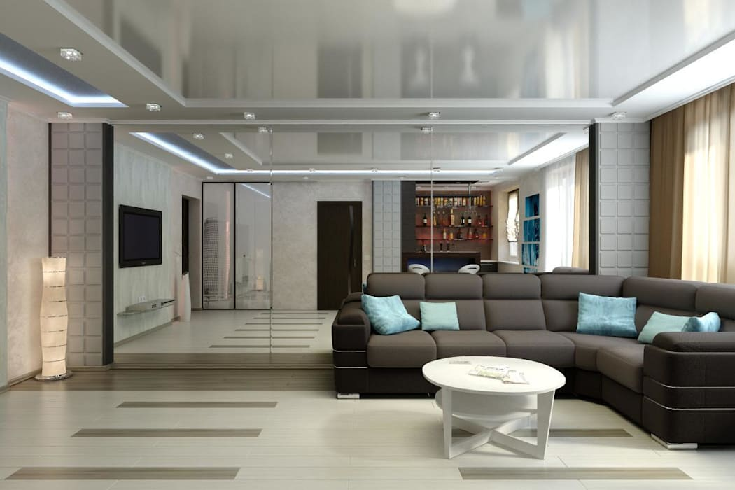 Дизайн 1-комнатной квартиры в Санкт-Петербурге Гостиная в стиле минимализм от homify Минимализм