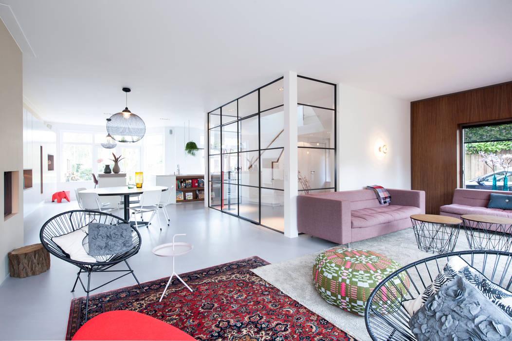 verbouwing en inrichting jaren 30 woning woonkamer door strandnl architectuur en interieur