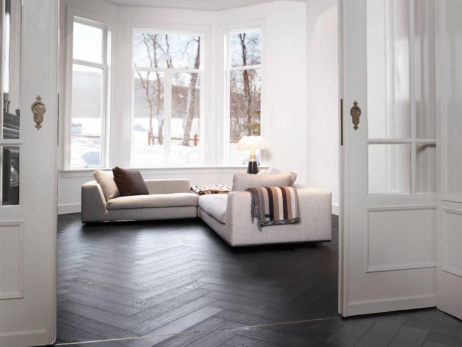 Leefruimte in parket Klassieke muren & vloeren van Nobel flooring Klassiek