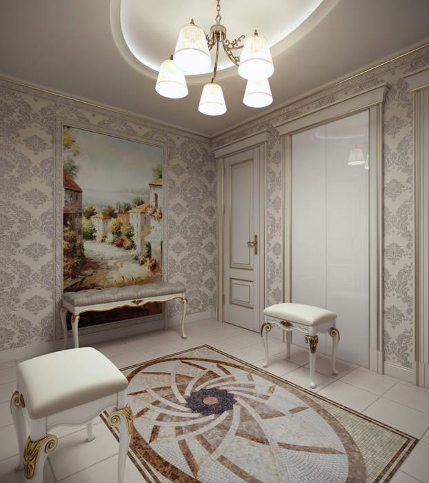 Лёгкая классика Коридор, прихожая и лестница в классическом стиле от homify Классический