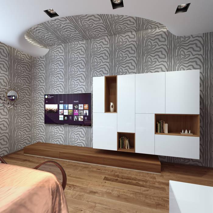 нормальная квартира Хандсвел Спальня в стиле модерн