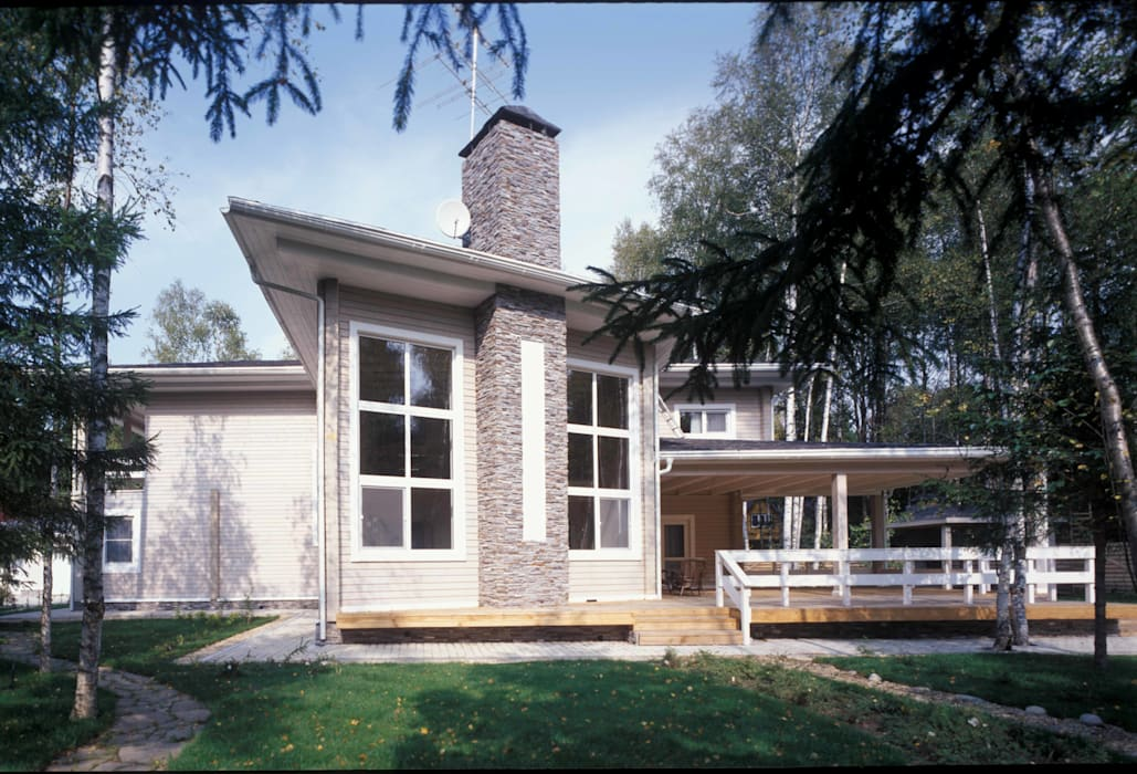 Дом из клёного бруса Дома в стиле кантри от homify Кантри