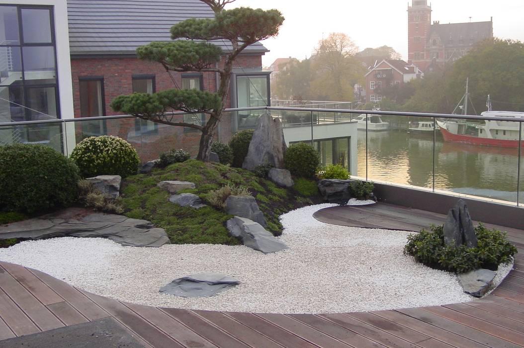Gartengestaltung unter Anwendung der japanischen Gartenkunst: asiatischer Garten von japan-garten-kultur