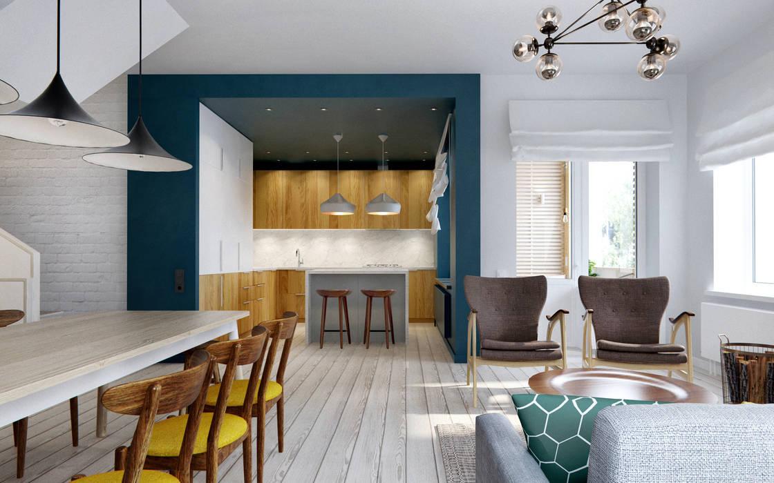 Ruang Keluarga oleh INT2architecture, Skandinavia