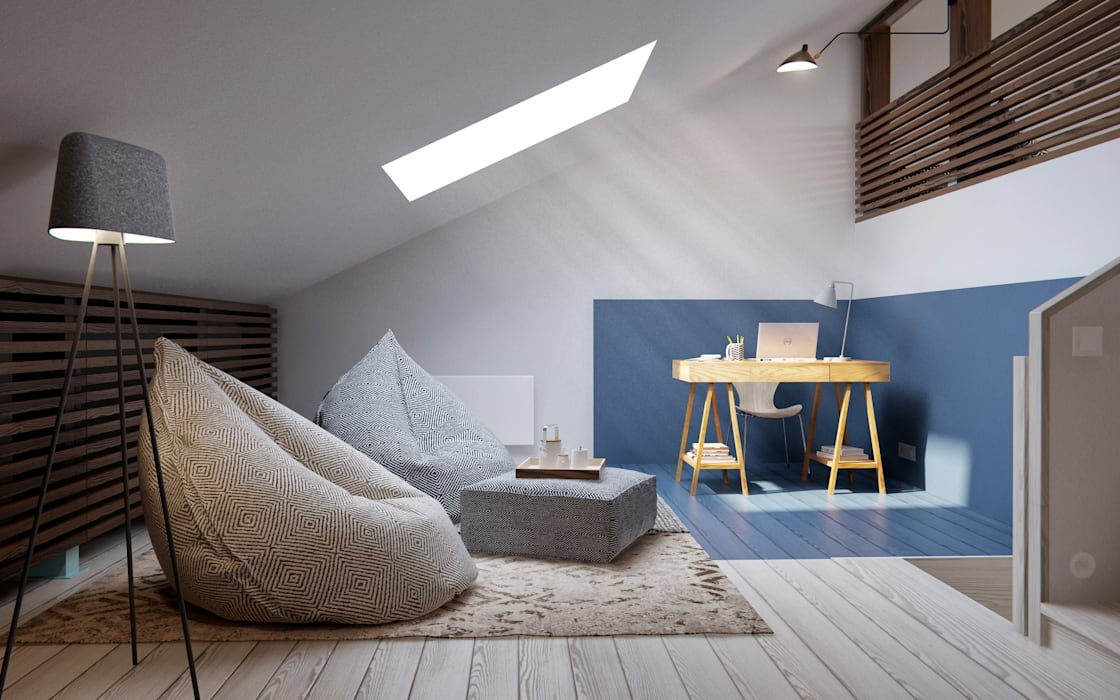 Salon de style  par INT2architecture, Scandinave