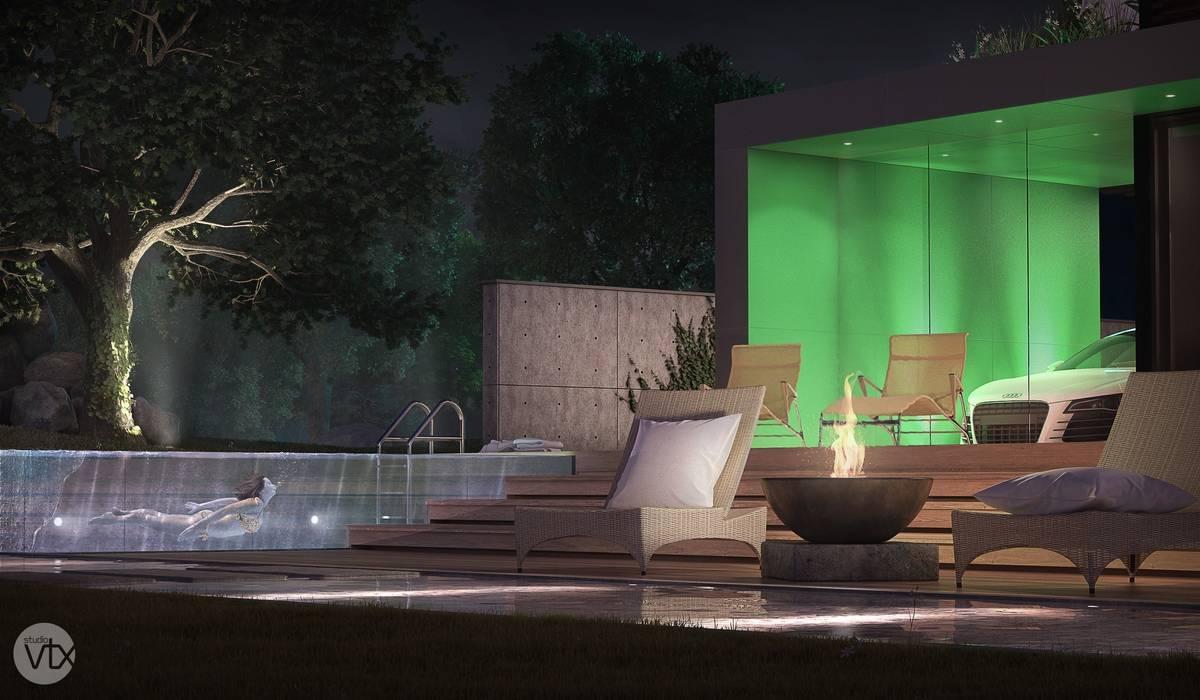Minimalist style garden by studio vtx Minimalist