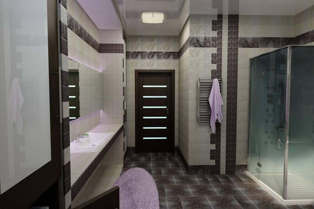 Дизайн ванной комнаты.: Ванные комнаты в . Автор – Дизайн студия 'Exmod' Павел Цунев