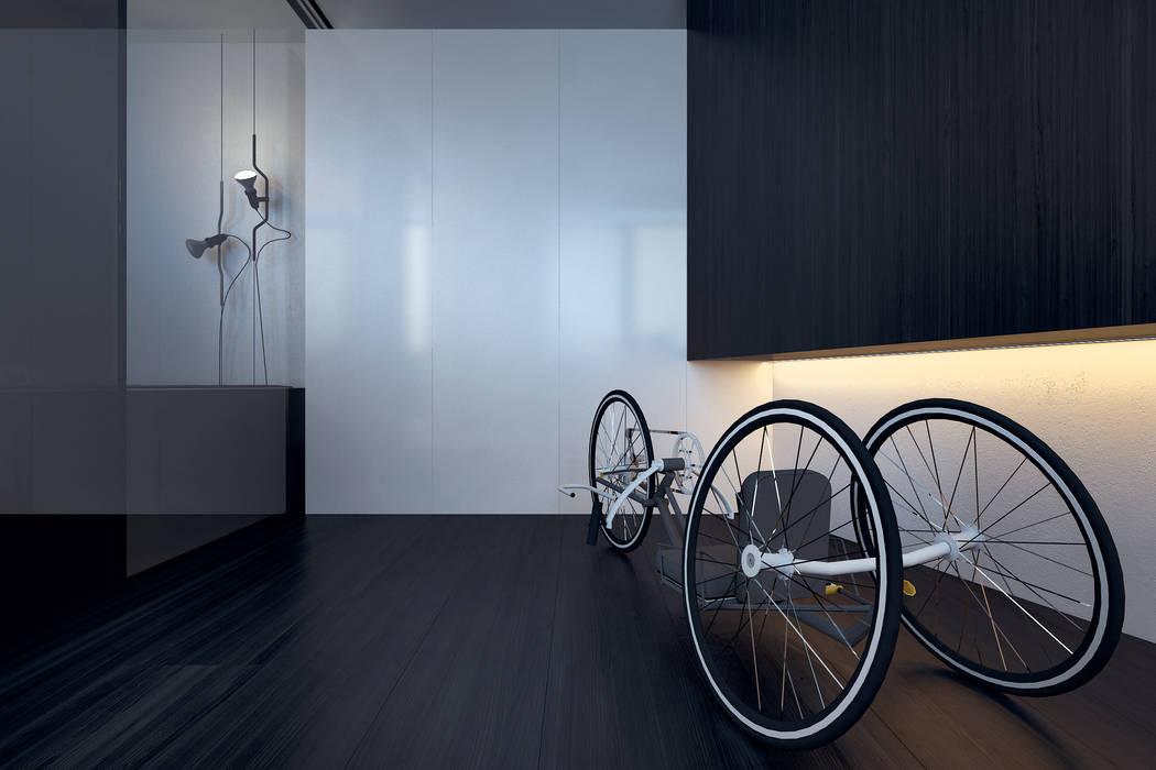 http://kuoo.pl/pl/projekty/bielsko-biala-sfera-apartament-167m2-2.html Minimalistyczne domowe biuro i gabinet od KUOO ARCHITECTS Minimalistyczny
