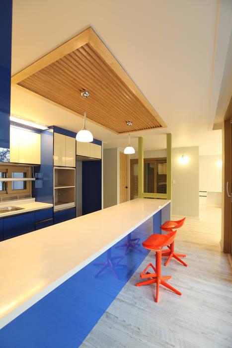 하남주택의 주방 모던스타일 주방 by 주택설계전문 디자인그룹 홈스타일토토 모던