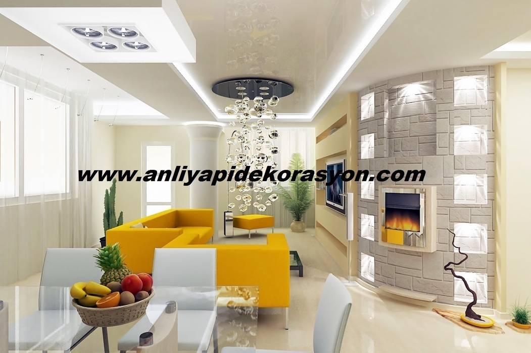 anlı yapı dekorasyon Modern Oturma Odası anlı yapı dekorasyon Modern