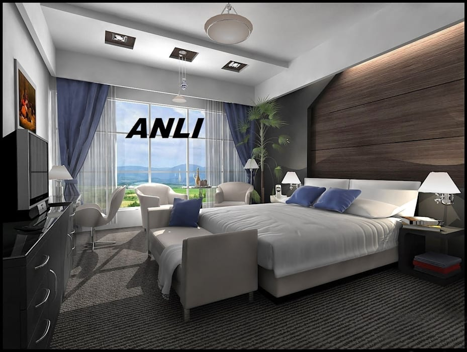 anlı yapı dekorasyon Modern Yatak Odası anlı yapı dekorasyon Modern