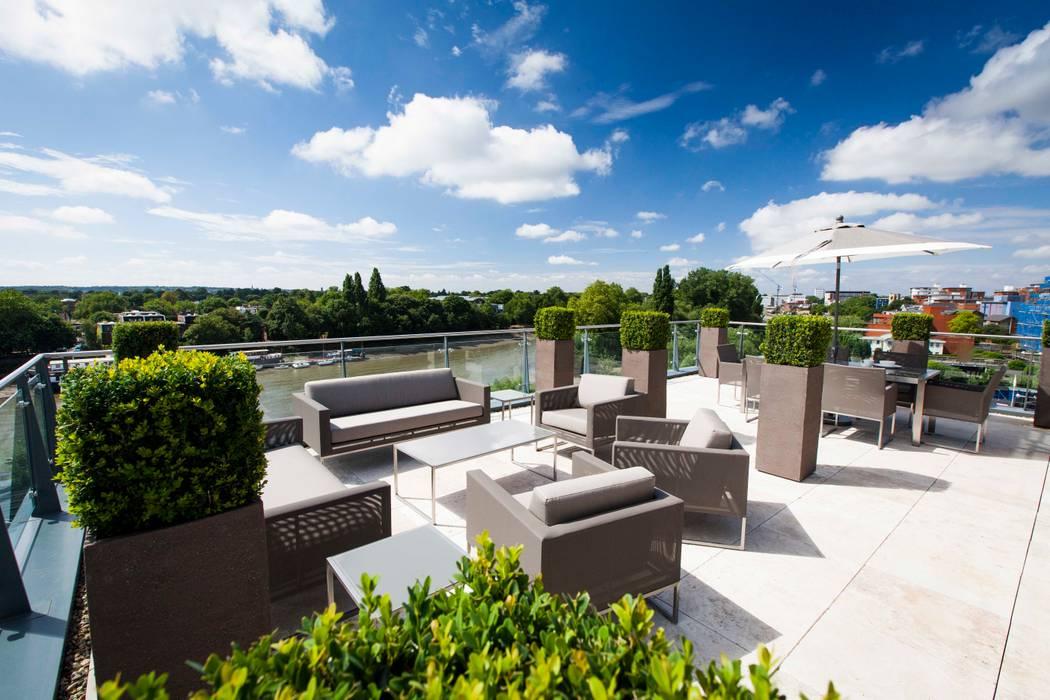 Terrazas en el techo de estilo  por Cameron Landscapes and Gardens, Minimalista