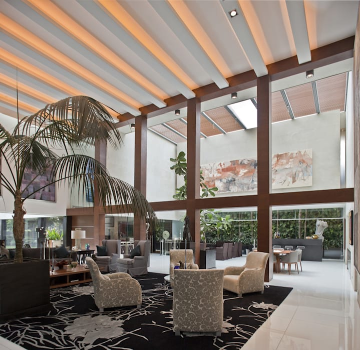 Casa H: Salas de estilo  por Cm2 Management, Minimalista