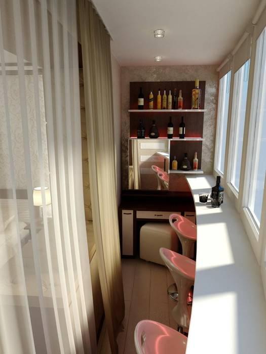 Балкон Балкон и терраса в стиле минимализм от Цунёв_Дизайн. Студия интерьерных решений. Минимализм