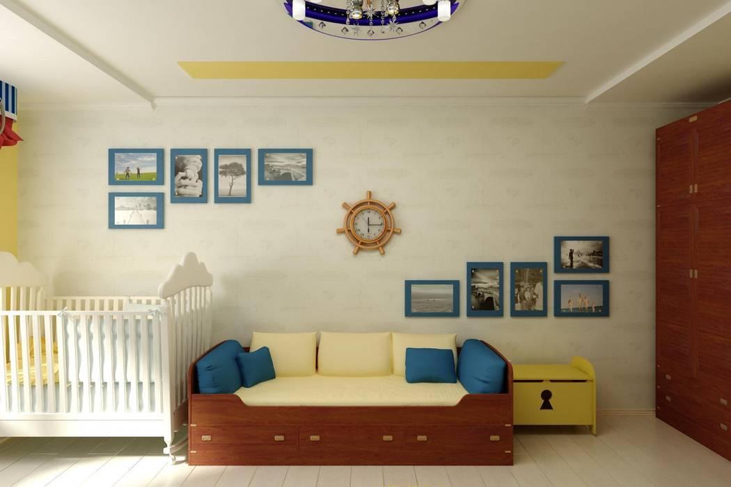 """Детская """"Летучий корабль"""" Детские комната в эклектичном стиле от Цунёв_Дизайн. Студия интерьерных решений. Эклектичный"""