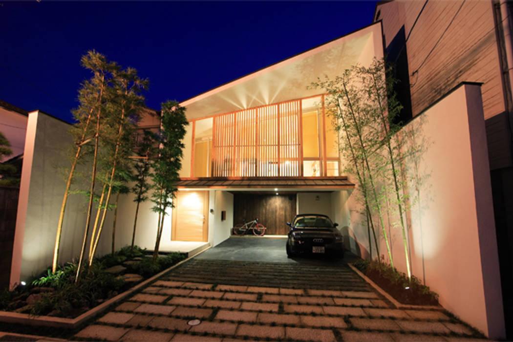竹林風洞 全景夜景 日本家屋・アジアの家 の アーキシップス古前建築設計事務所 和風