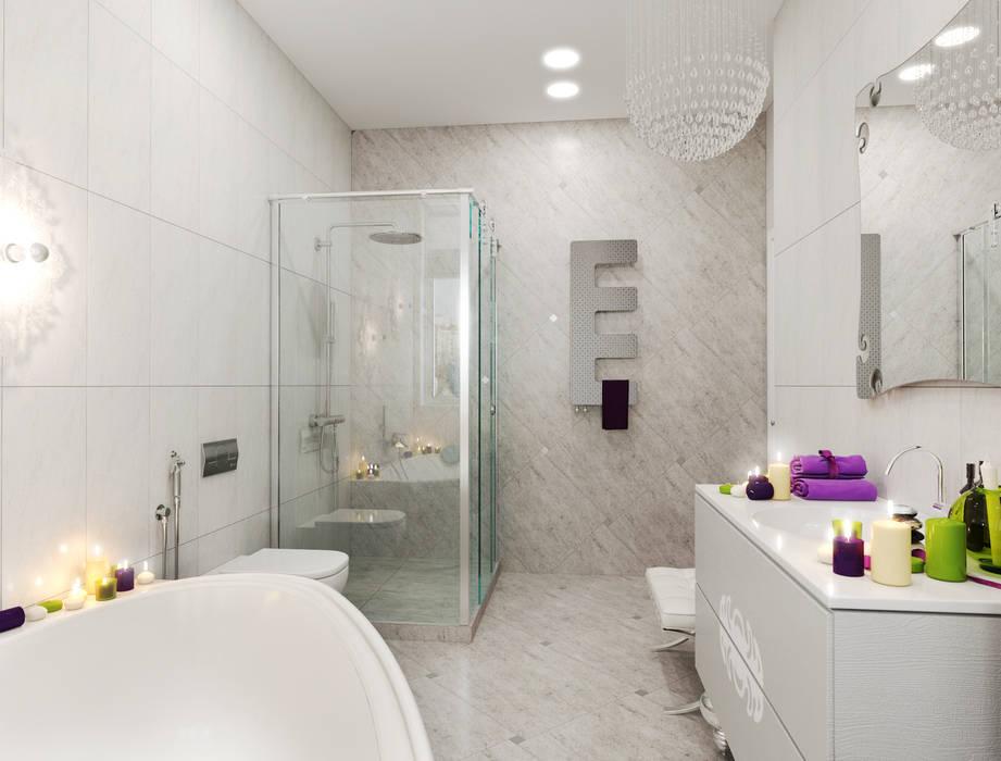 гранит: Ванные комнаты в . Автор – pashchak design, Минимализм