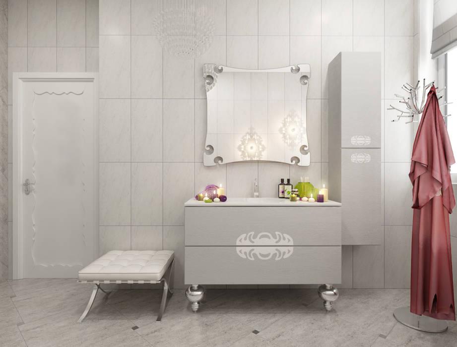 Кружево: Ванные комнаты в . Автор – pashchak design
