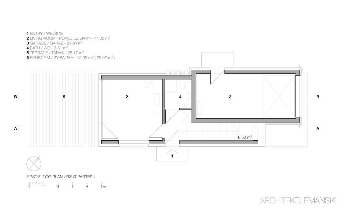 Domo Dom od ARCHITEKT.LEMANSKI