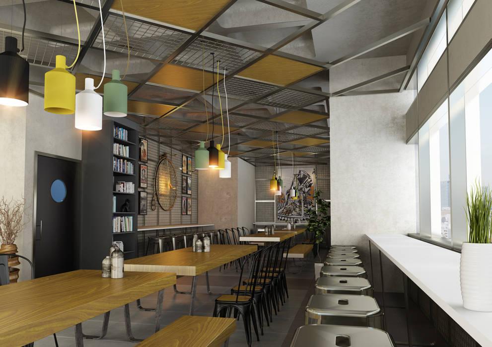 BA DESIGN – Cafe Project:  tarz Yemek Odası, Modern