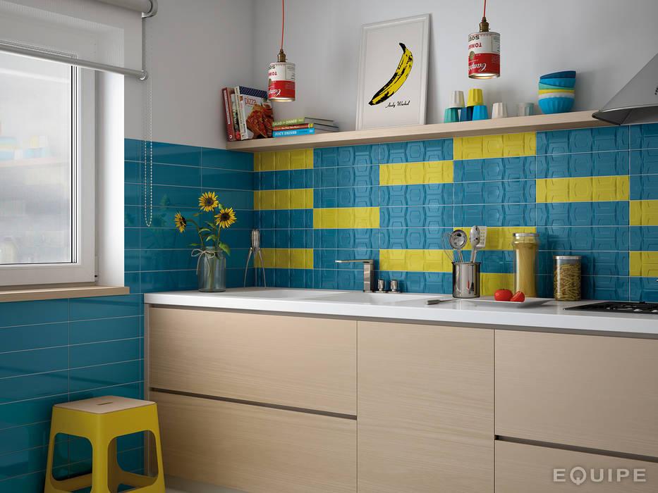 Matisse Blue Loyal / deco CUBE Blue Loyal, Yellow Cocinas de estilo moderno de homify Moderno