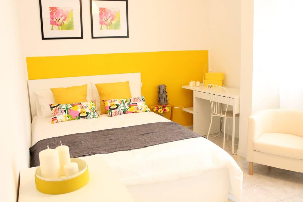 Camera gialla – dopo: camera da letto in stile di ...