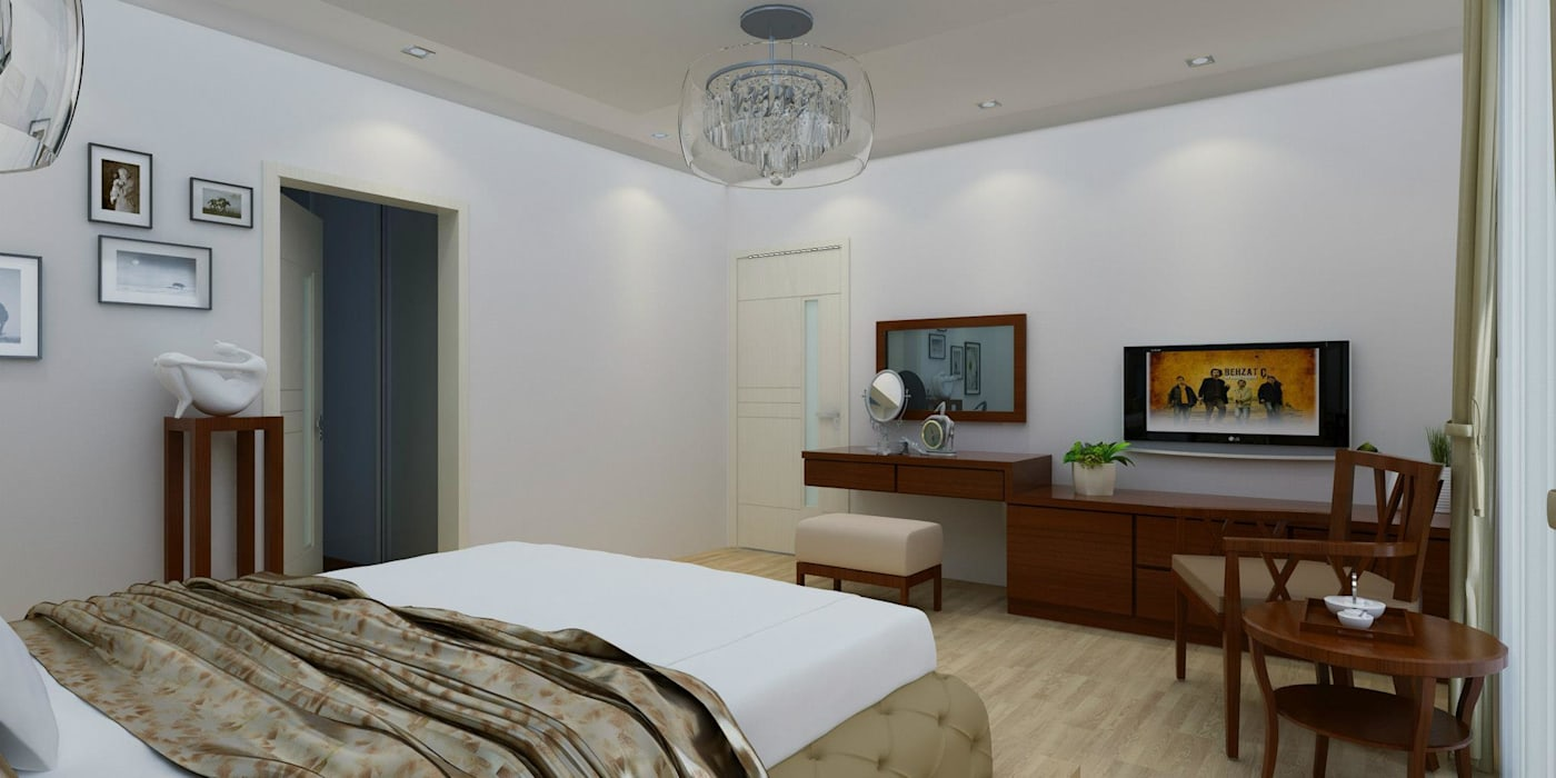 CANSEL BOZKURT  interior architect – VİLLA N'MODA:  tarz Yatak Odası