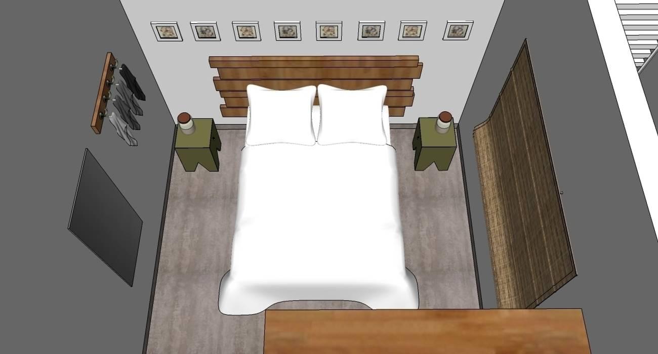 Dormitório: Quartos  por Natali de Mello - Arquitetura e Arte,