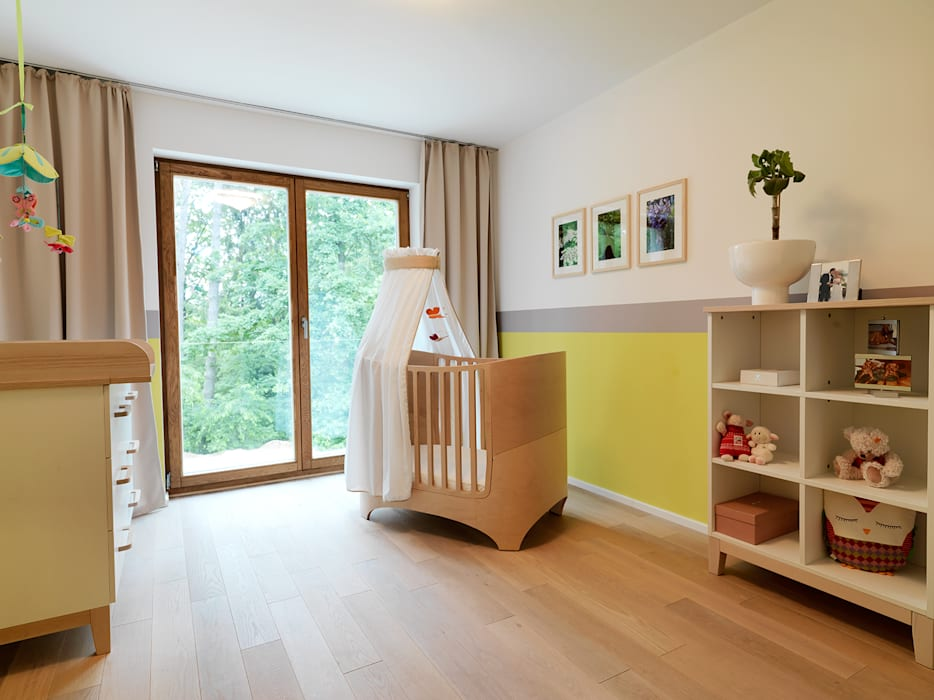 Dormitorios infantiles de estilo minimalista de Bermüller + Hauner Architekturwerkstatt Minimalista