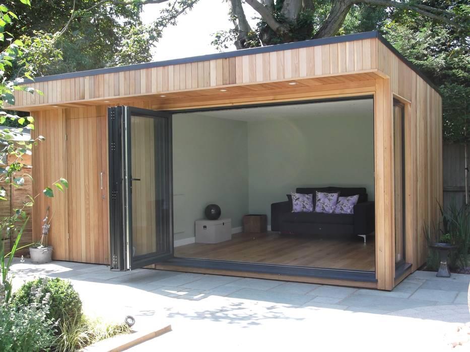 Garden Room in High Barnet, London Jardines de estilo moderno de Office In My Garden Moderno