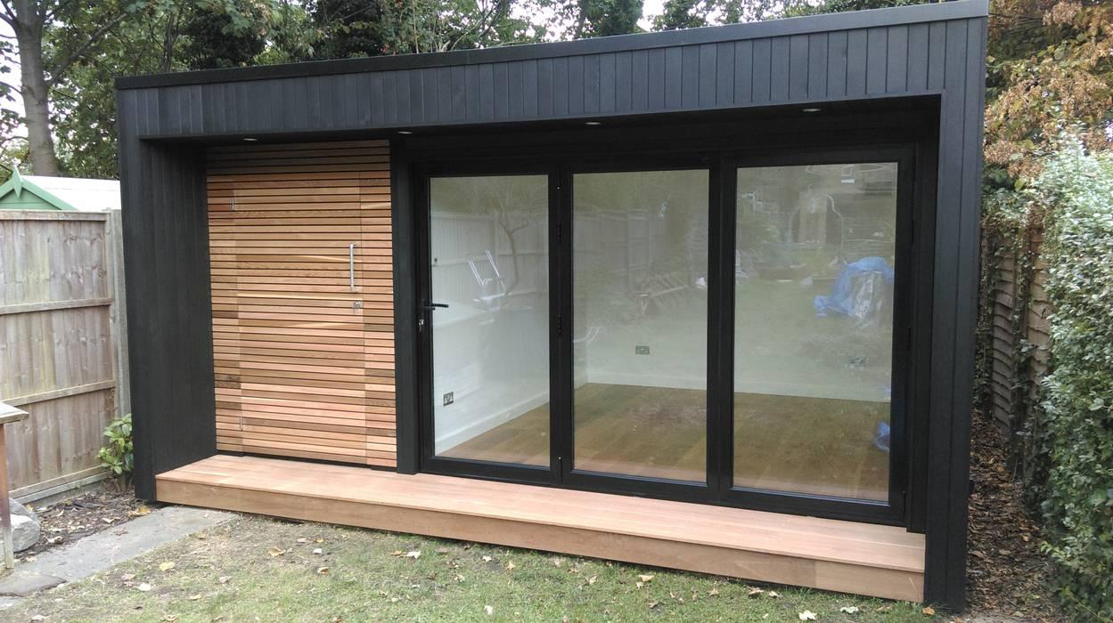 Garden Studio with storage:  Study/office by Office In My Garden, Modern