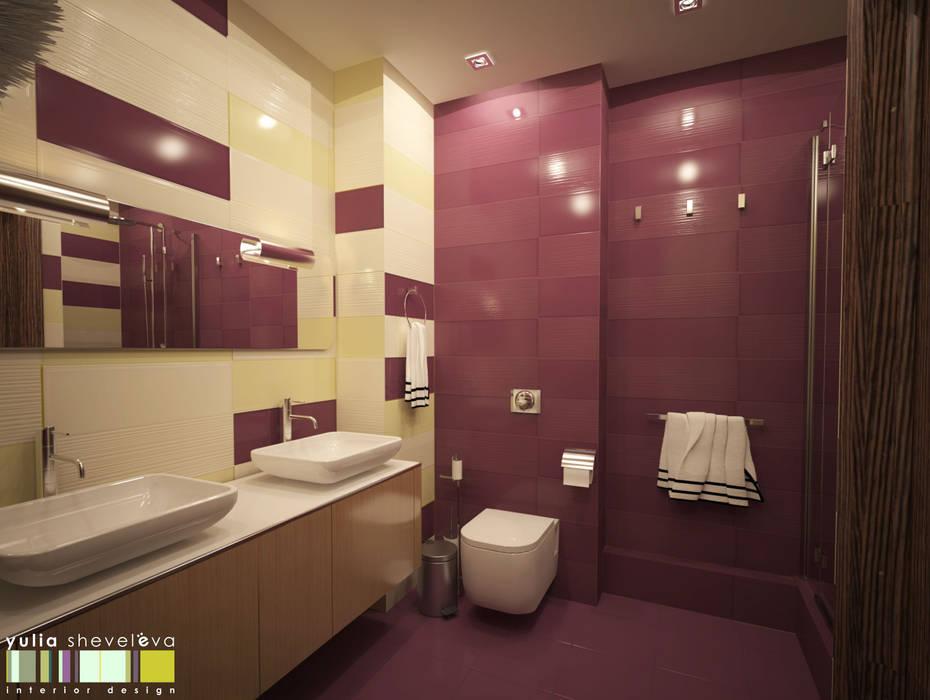 СТИЛЬ И ХАРАКТЕР: Ванные комнаты в . Автор – Мастерская интерьера Юлии Шевелевой