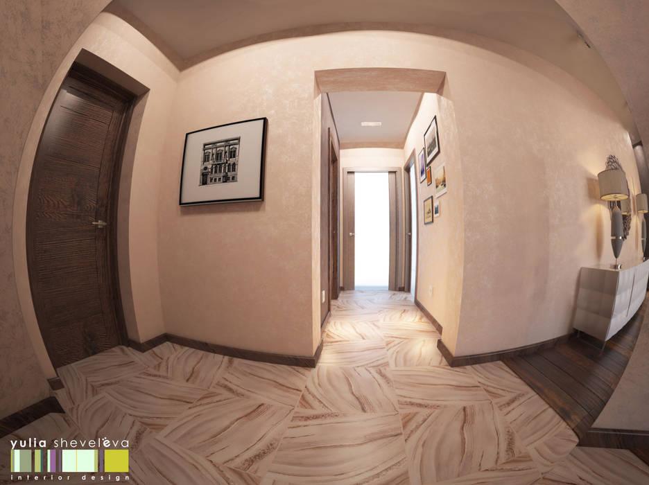 СТИЛЬ И ХАРАКТЕР Мастерская интерьера Юлии Шевелевой Коридор, прихожая и лестница в стиле минимализм