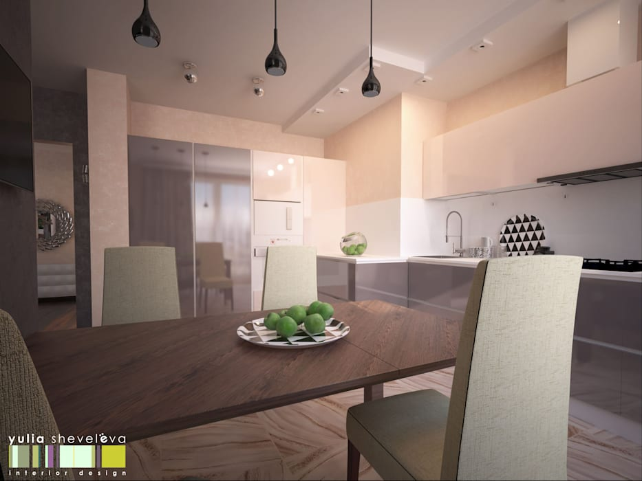 СТИЛЬ И ХАРАКТЕР: Кухни в . Автор – Мастерская интерьера Юлии Шевелевой