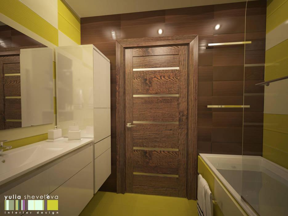 СТИЛЬ И ХАРАКТЕР Ванная комната в стиле минимализм от Мастерская интерьера Юлии Шевелевой Минимализм