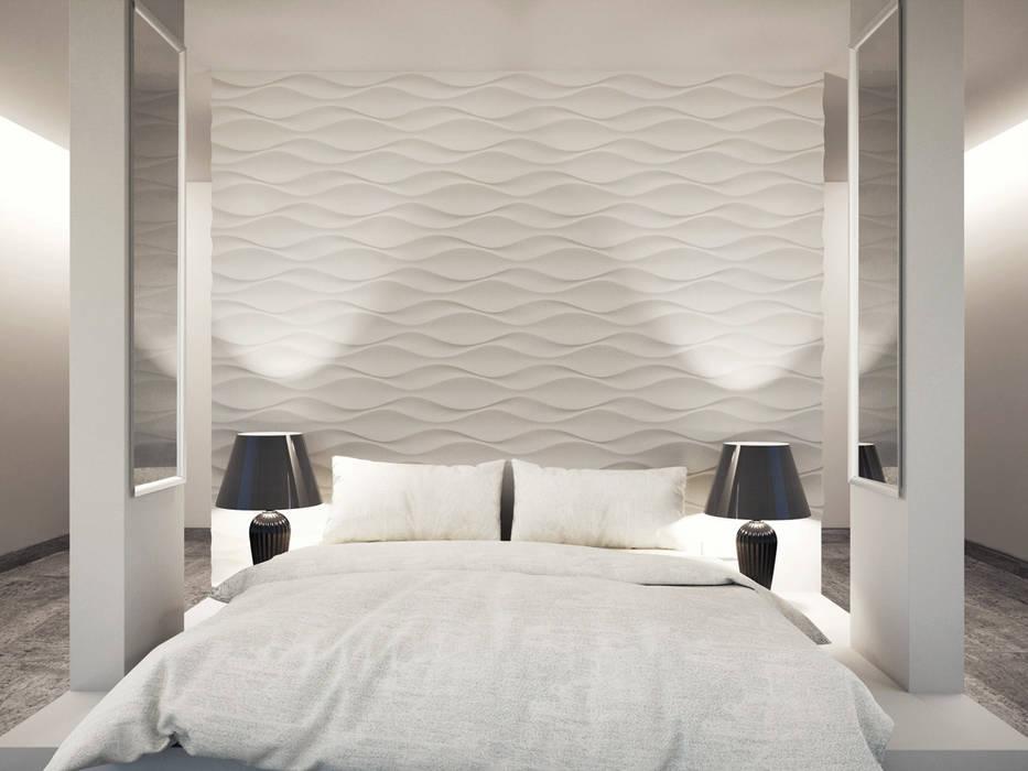 Projekty,  Sypialnia zaprojektowane przez Loft Design System Deutschland - Wandpaneele aus Bayern, Klasyczny