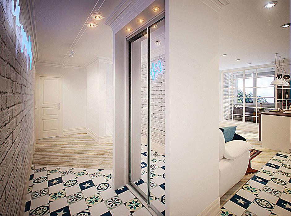 Коридор Коридор, прихожая и лестница в эклектичном стиле от meandr.pro Эклектичный