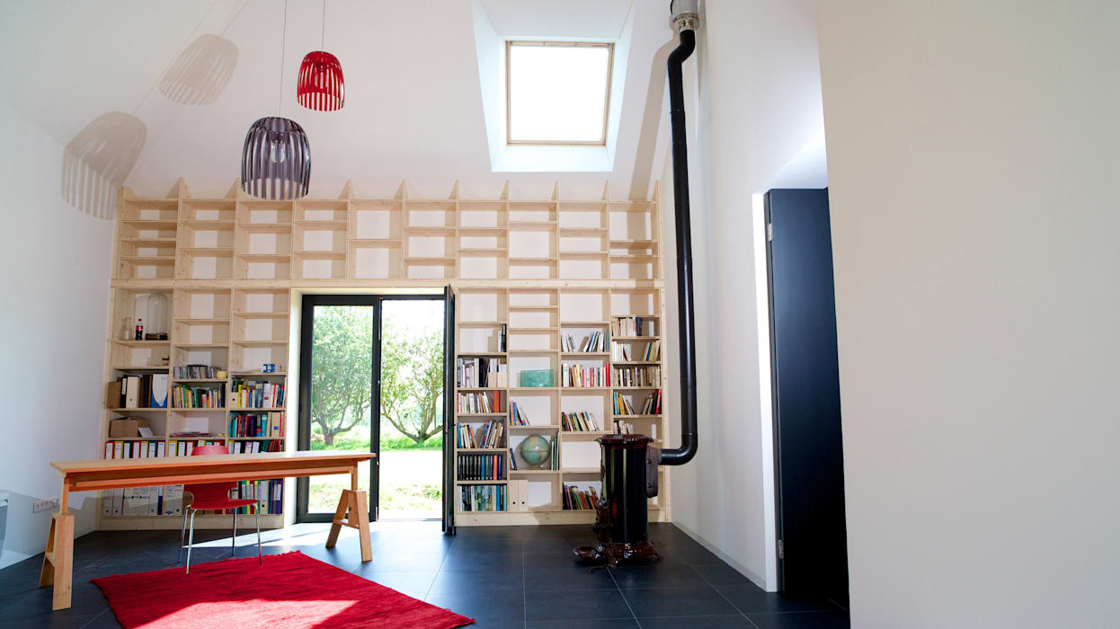 Modern Study Room and Home Office by ng-a Modern