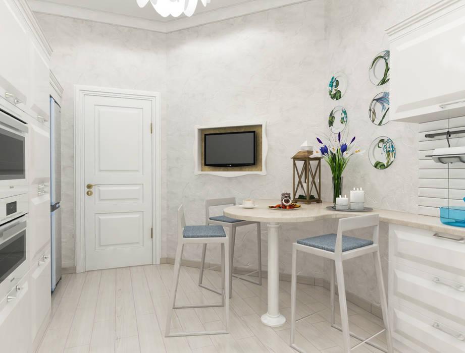 Белая тарелочка : Кухни в . Автор – pashchak design