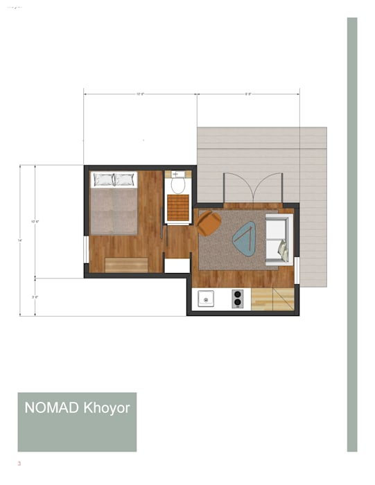 1 Bedroom on Suite,Livingroom,Kitchen por homify
